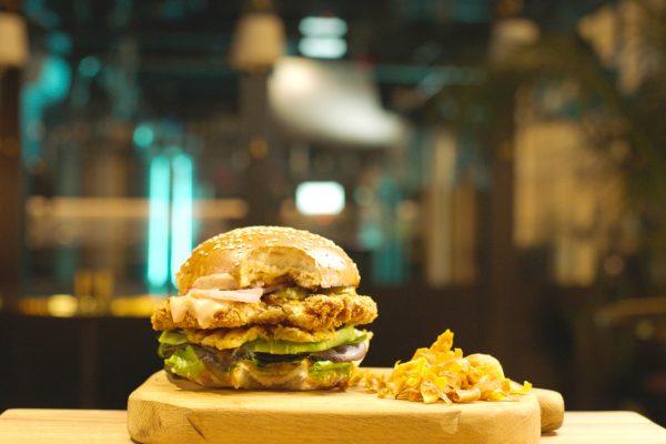 SuperMeat's Chicken Burger close up Credit: SuperMeat